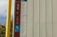 linea autobus sotto all'immobile