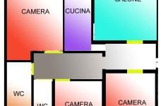 planimetria colorata